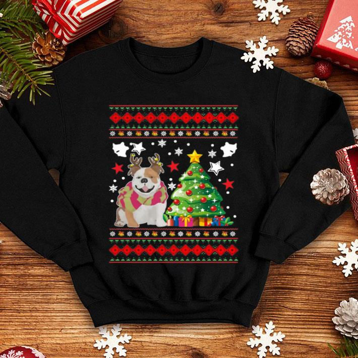 Bulldog Christmas tree shirt