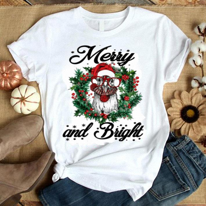 Chicken Merry and Bright Christmas shirt