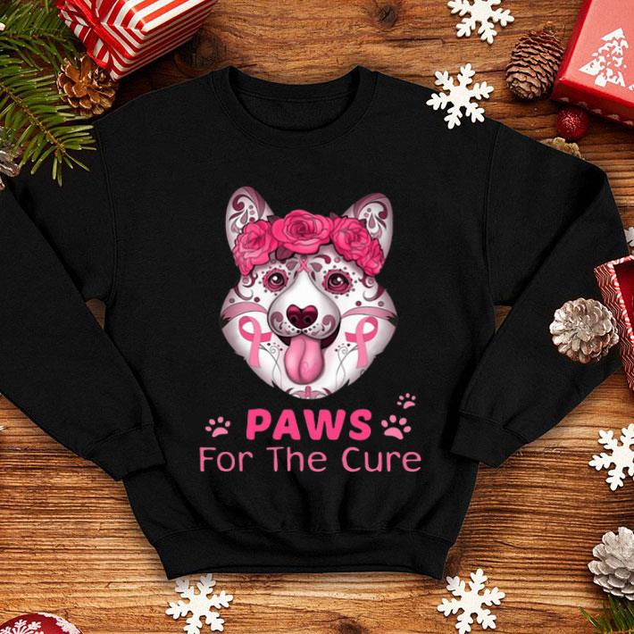 Corgi Paws for the cure Breast Cancer Awareness shirt