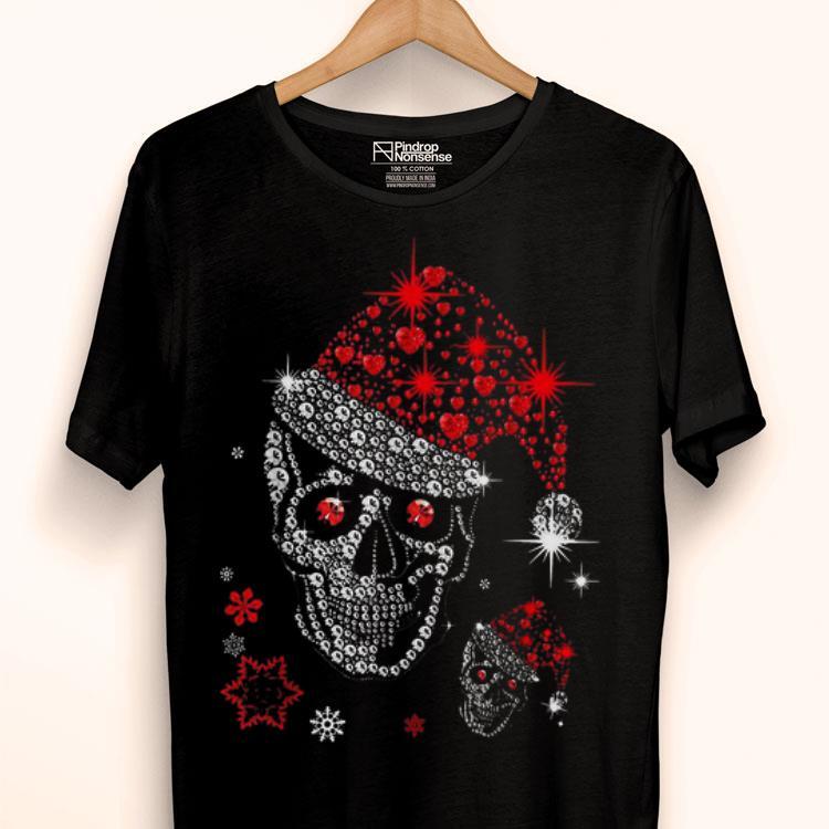 Diamond Skull Santa Claus Christmas shirt