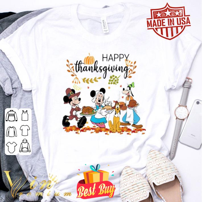 Disney Characters Happy Thanksgiving shirt
