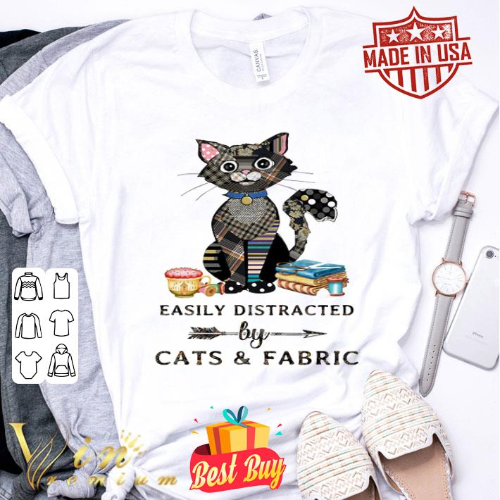 Easily distracted by cats & fabric shirt