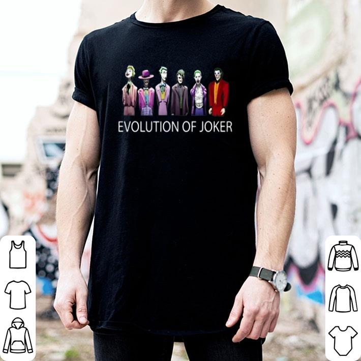Evolution of Joker 1940-2019 shirt