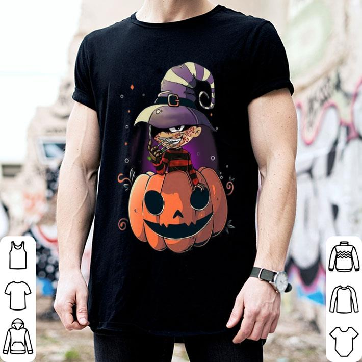Freddy Krueger pumpkin Halloween shirt