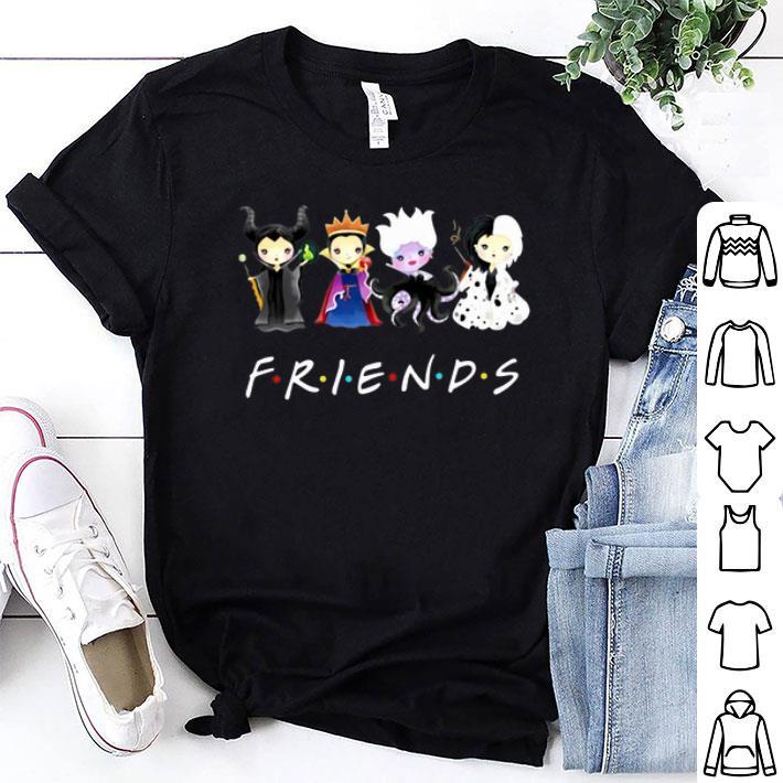 Friends Disney Maleficent Evil Queen Ursula Cruella de Vil shirt