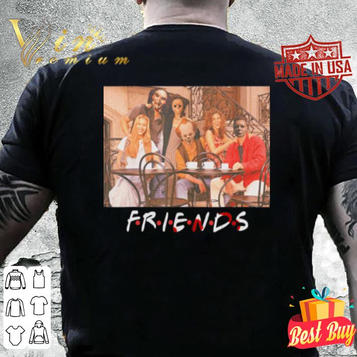 Friends IT Saw spooky clown horror movies Halloween shirt