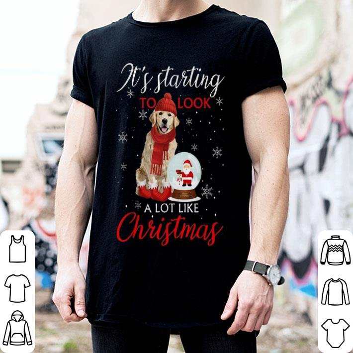 Golden Retriever It's starting to look a lot like Christmas shirt