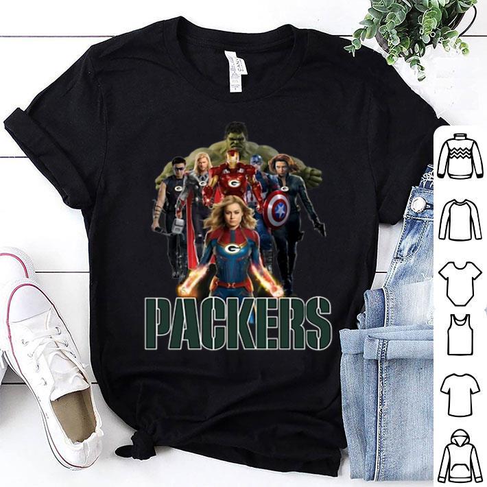 Green Bay Packers Avengers Endgame Characters Marvel shirt