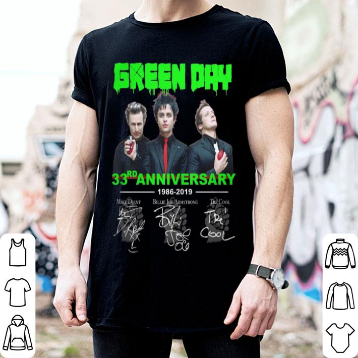 Green Day 33rd anniversary 1986-2019 signatures shirt