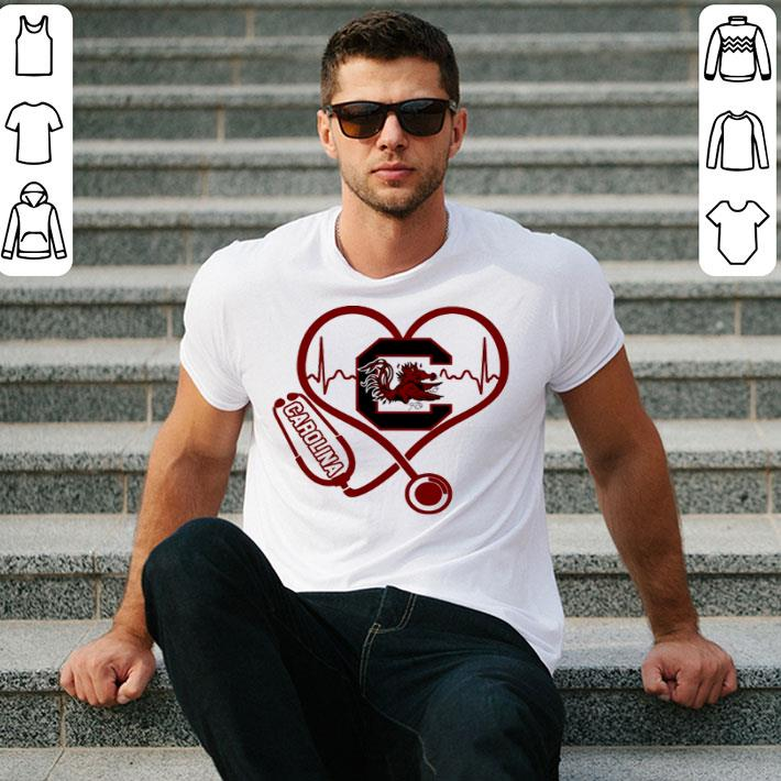 Heartbeat love Carolina Gamecocks nurse shirt