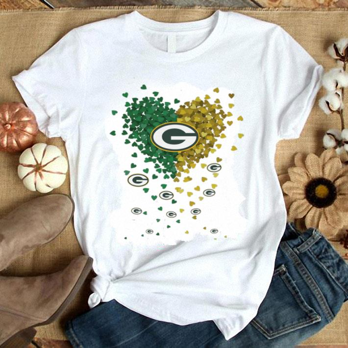 Hearts Green Bay Packers Logo shirt
