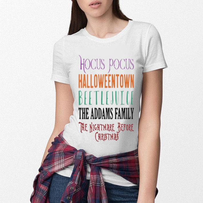 Hocus Pocus Halloweentown Beetlejuice The Addams Family shirt