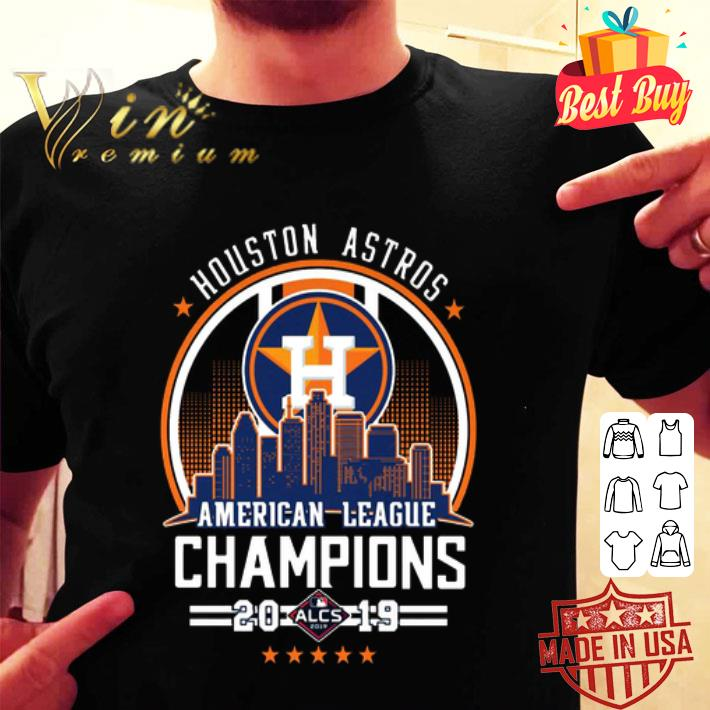 Houston Astros city American League Champions 2019 shirt