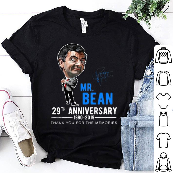 Mr Bean 29th 1990-2019 Anniversary Thank You For The Memories shirt