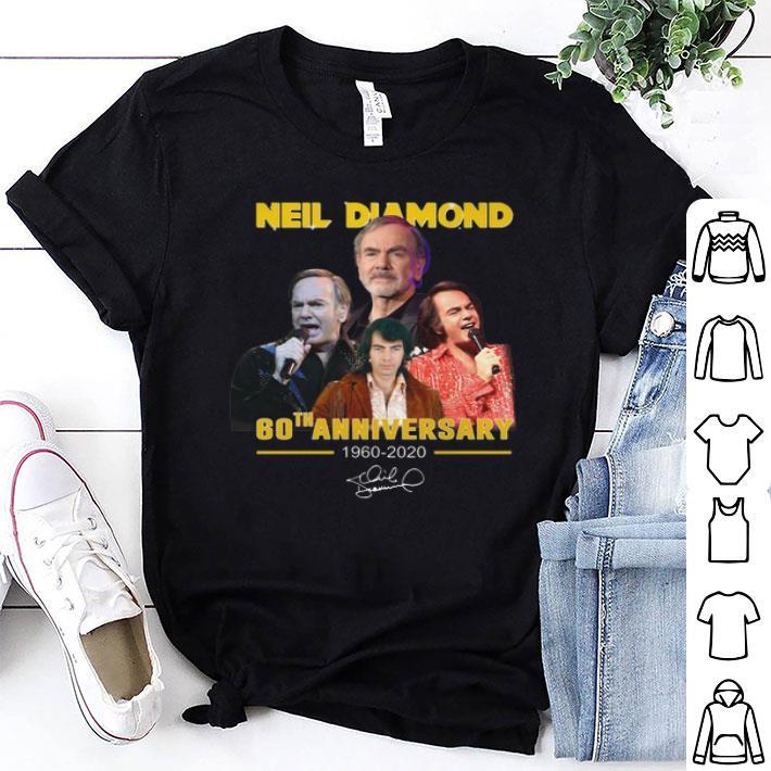 Neil Diamond 60th anniversary 1960-2020 signature shirt