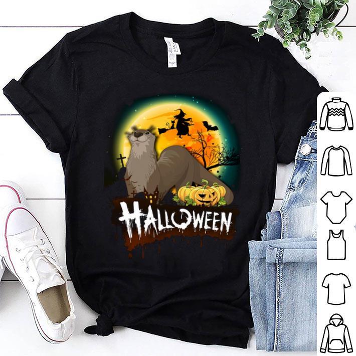 Otter pumpkin witch halloween shirt
