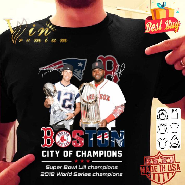 Patriots Boston City of champions Super Bowl LIII champions shirt