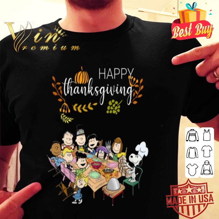 Peanuts party Happy Thanksgiving shirt