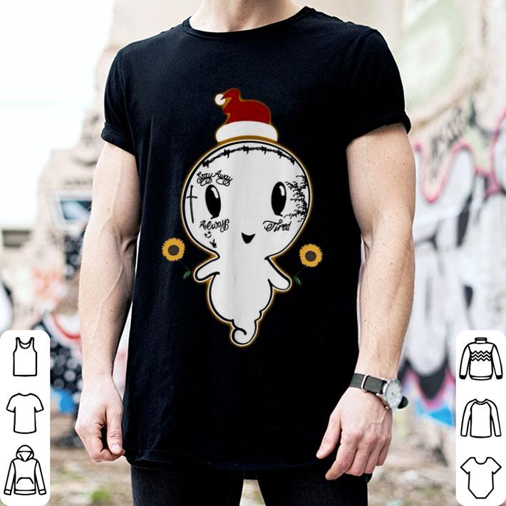 Post Malone boo ghost sunflower santa Christmas shirt