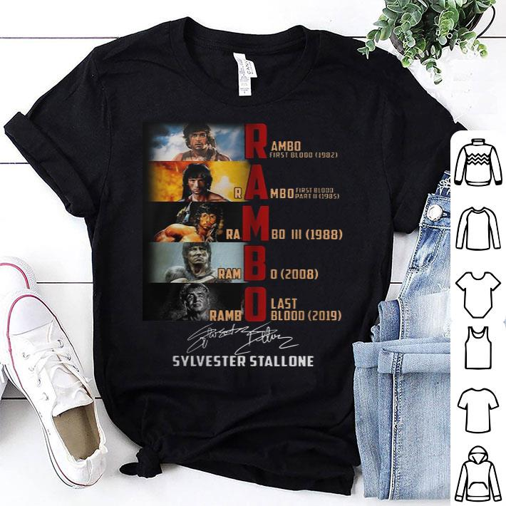 Rambo Sylvester Stallone First Blood Last Blood Signature shirt