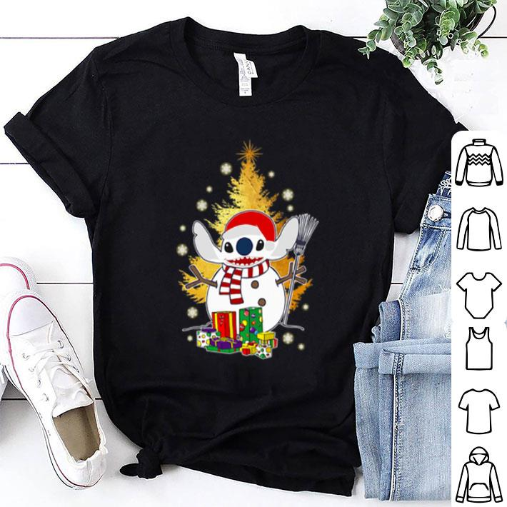 Santa Stitch make Snowman Christmas tree shirt