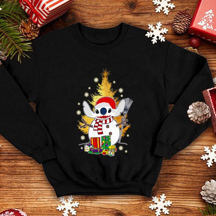 Santa Stitch make Snowman Christmas tree shirt