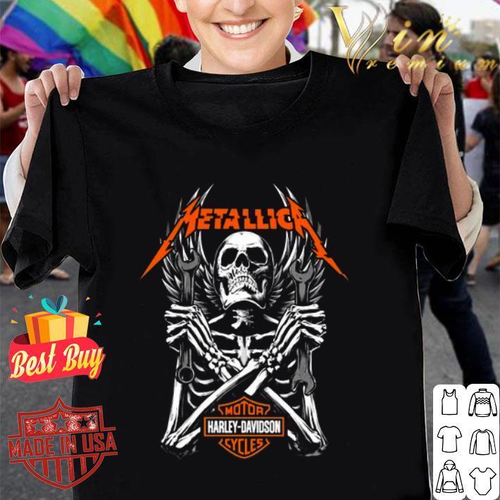 Skeleton Metallica Harley Davidson Logo shirt