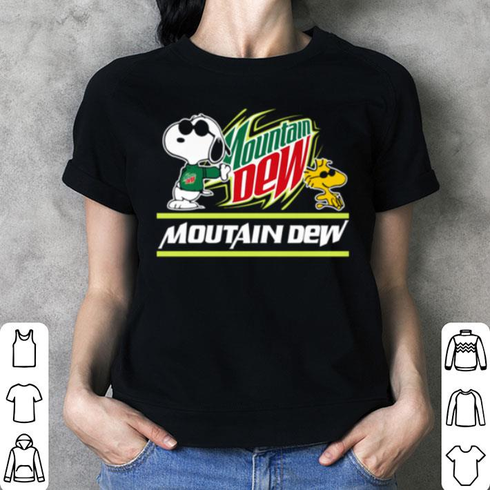 Snoopy Woodstock Mountain Dew Peanuts shirt