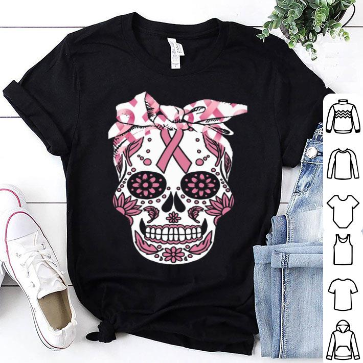 Sugar skull Breast Cancer Awareness shirt