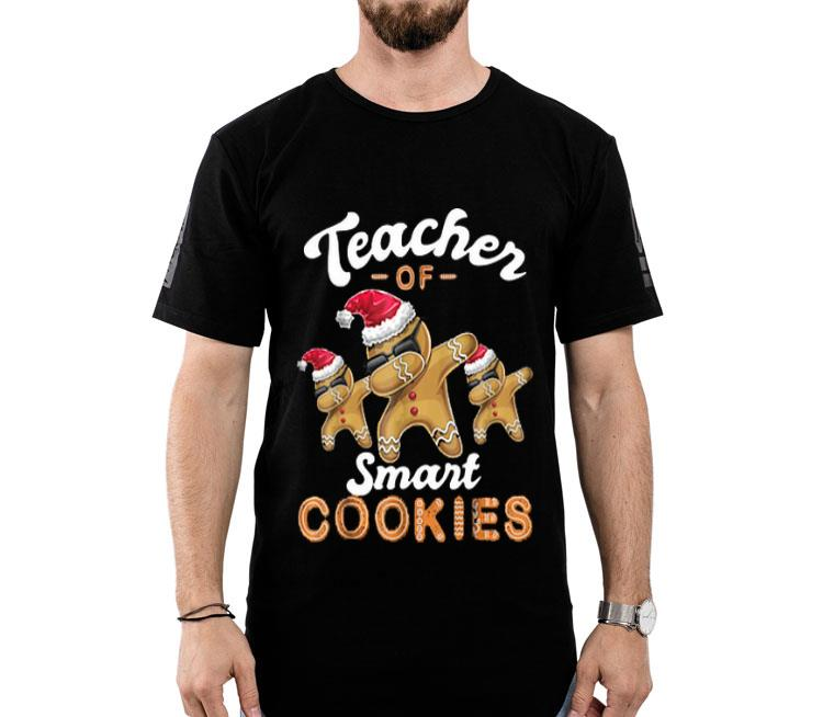 Teacher of Smart Cookies Dabbing Gingerbread Christmas shirt 1