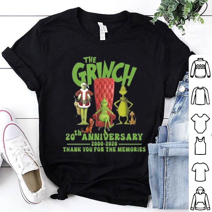 The Grinch 20th anniversary 2000-2020 thank you for the memories shirt