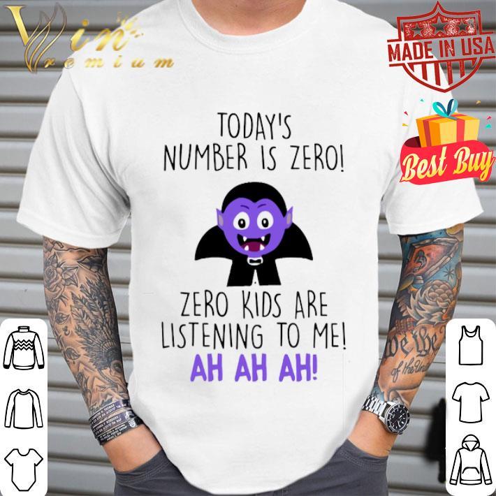 Today's number is zero zero kids are listening to me ah ah ah shirt