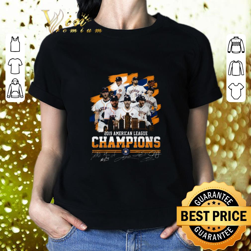 Top 2019 American league champions Houston Astros signatures shirt