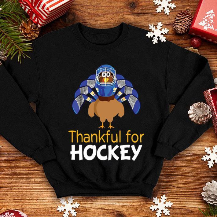 Turkey Thankful For Hockey Thanksgiving shirt
