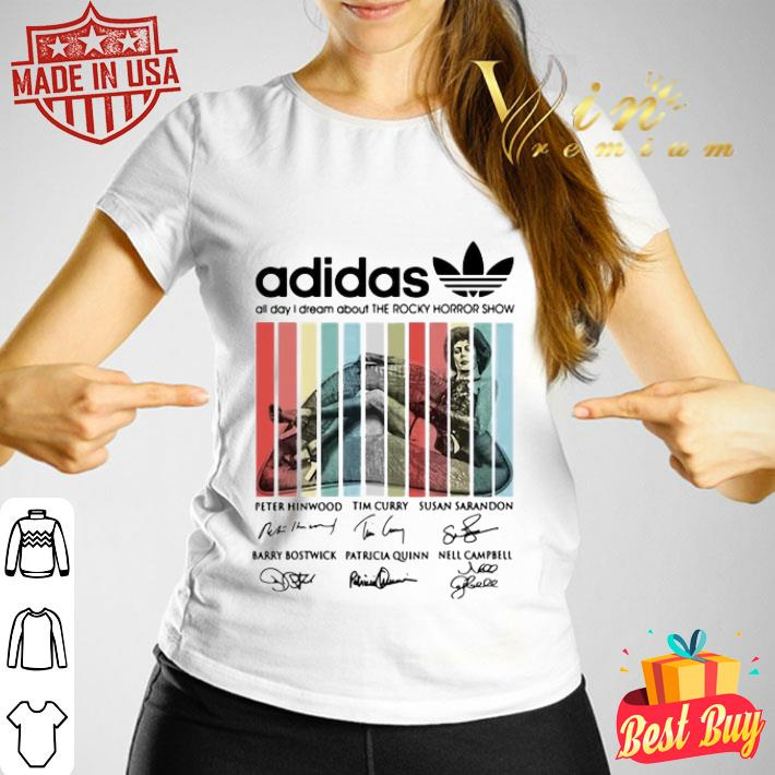 adidas all day i dream about The Rocky Horror Show signatures shirt