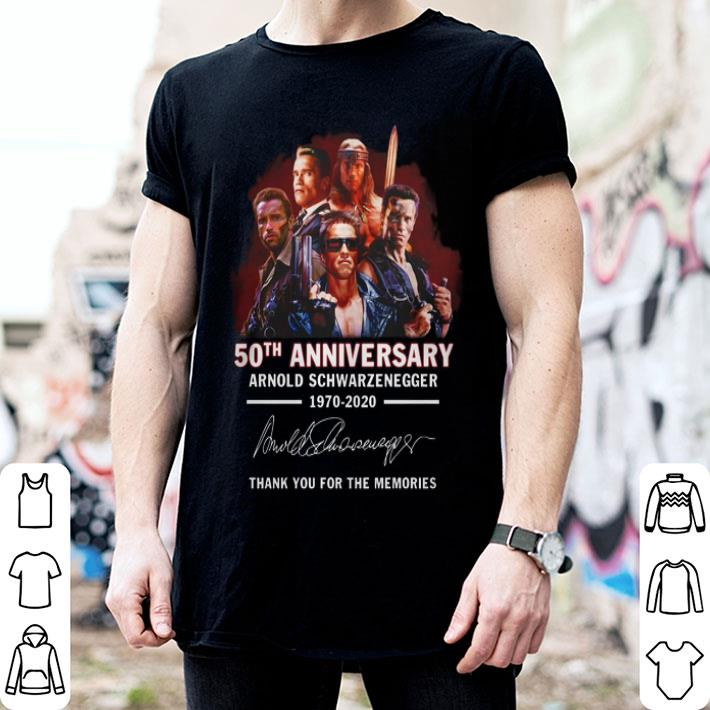 50th anniversary Arnold Schwarzenegger 1970-2020 signature shirt