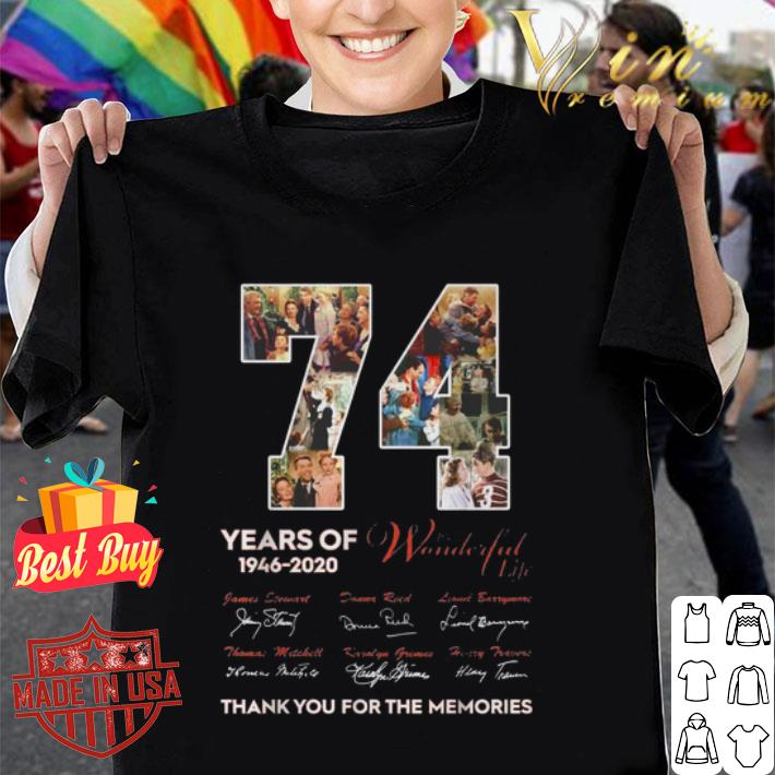 74th Years Of It's A Wonderful Life 1946-2020 signatures shirt