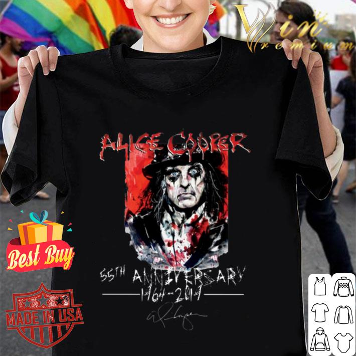 Alice Cooper 55th anniversary 1964-2019 signature shirt