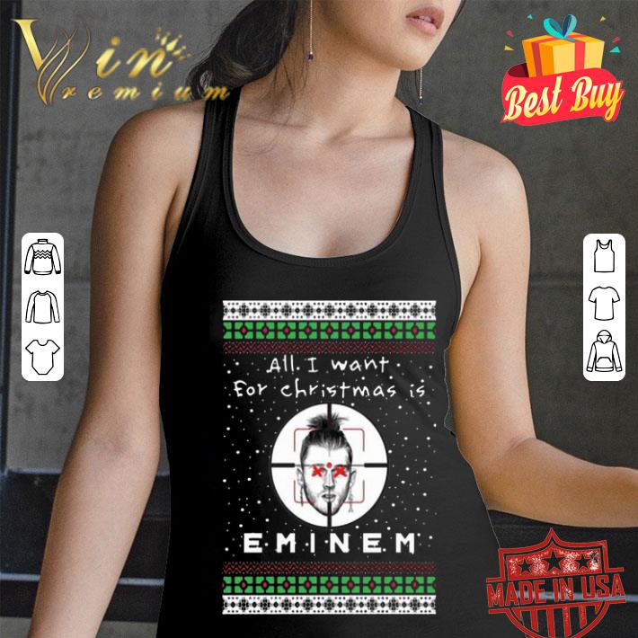 All i want for Christmas is Eminem Rapper shirt