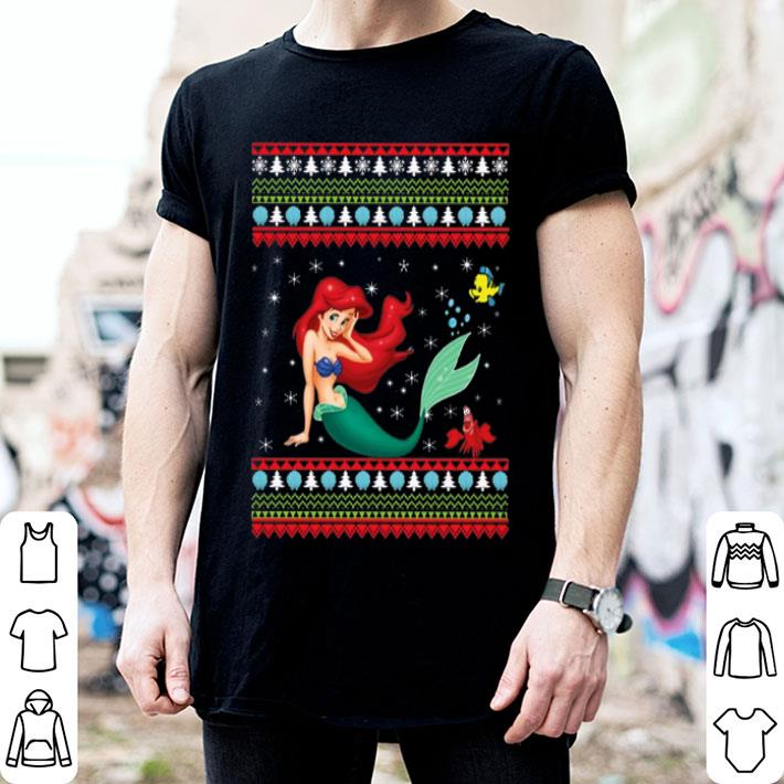 Ariel The Little Mermaid ugly Christmas shirt