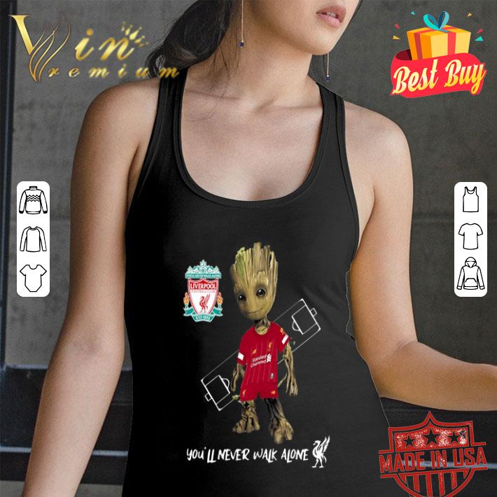 Baby Groot Little Liverpool You'll Never Walk Alone shirt
