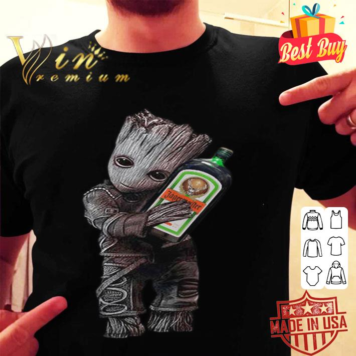 Baby Groot hug Jagermeister shirt