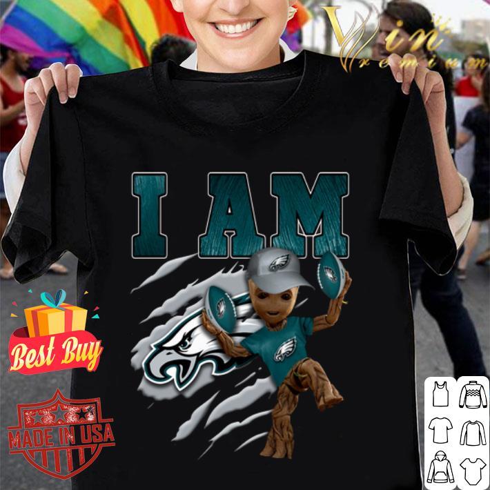 Baby Groot i am Philadelphia Eagles shirt