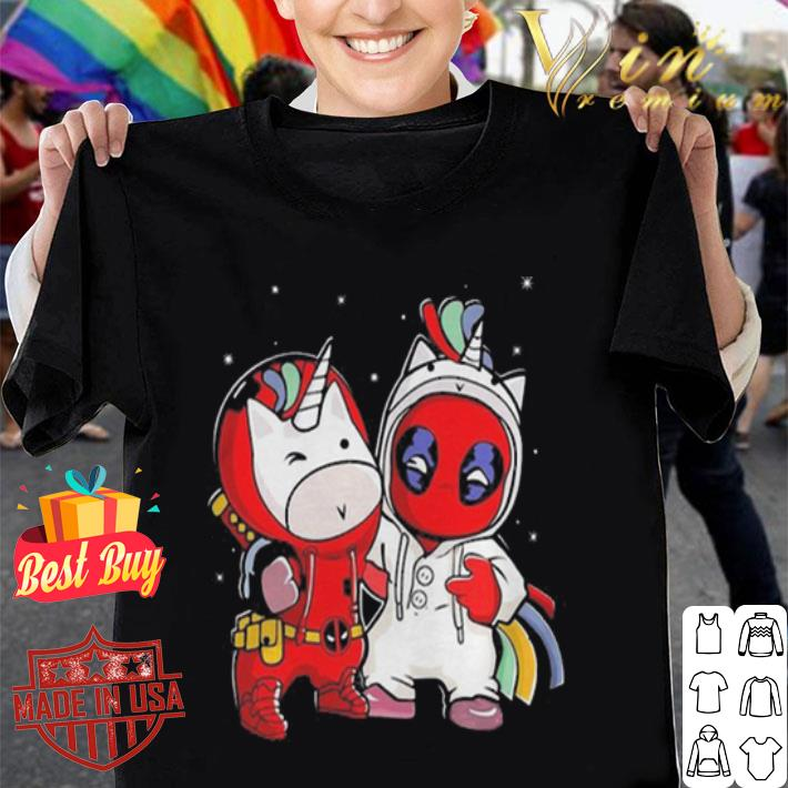 Baby Unicorn and Deadpool shirt