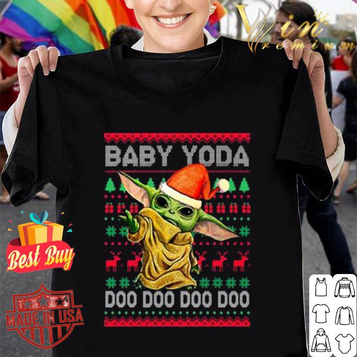 Baby Yoda Doo Doo Doo ugly Christmas sweater
