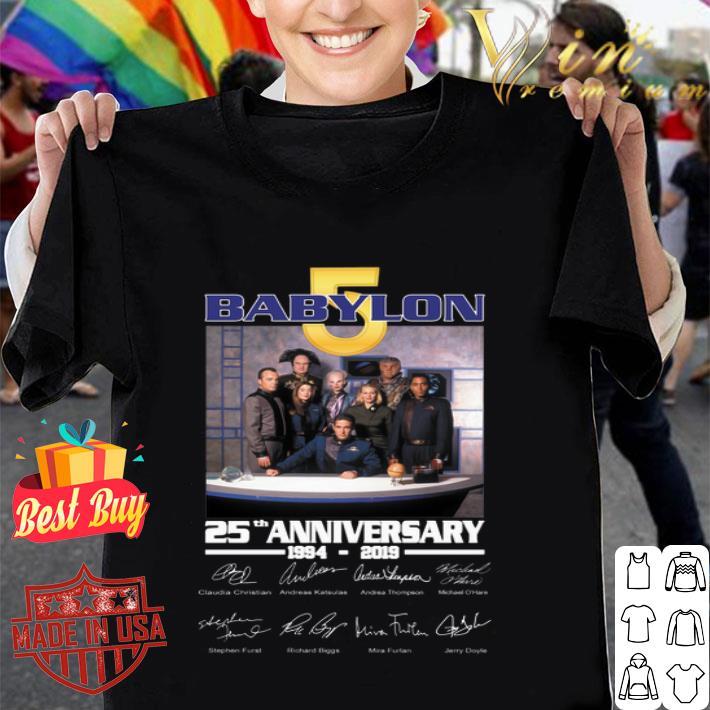 Babylon 5 25th anniversary 1994-2019 signatures shirt