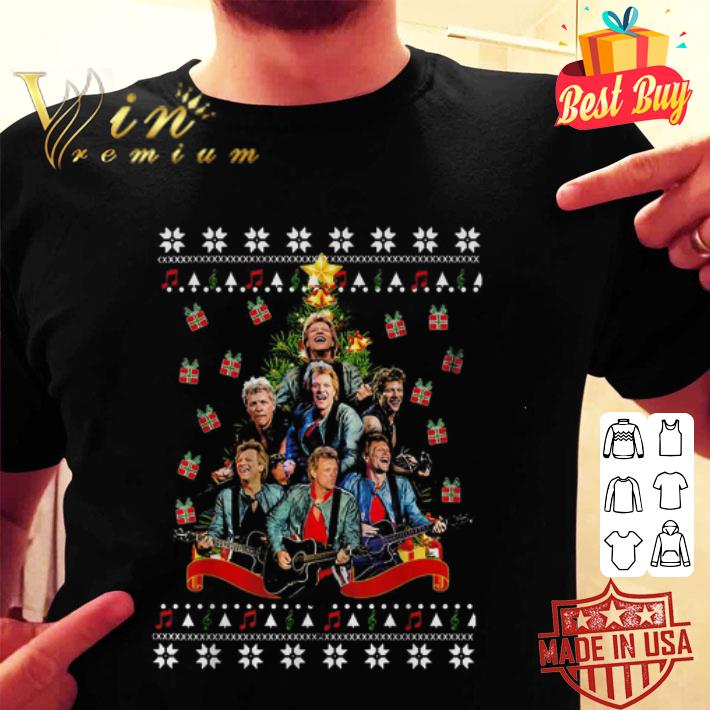 Bon Jovi Christmas tree ugly sweater