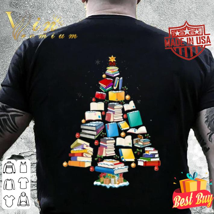 Books Christmas tree shirt