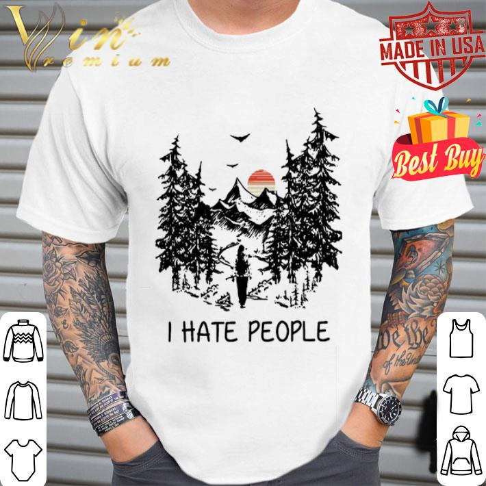 Camping i hate people sunset shirt