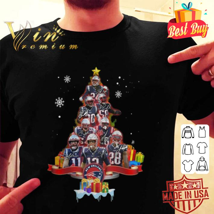 Christmas Tree New England Patriots Signatures shirt
